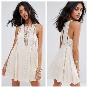 FREE PEOPLE Wherever You Go Crochet Knit Dress